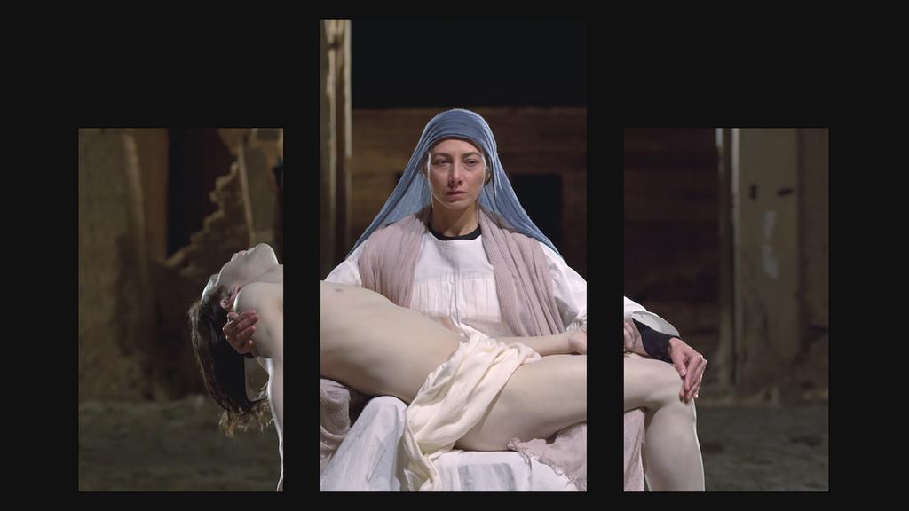 Bill viola  mary  2016  video triptych  executive producer  kira perov  photo courtesy blainsouthern 6