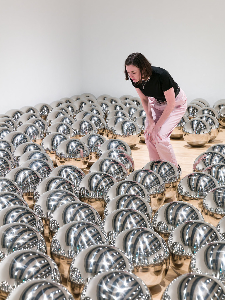 11 installation view of yayoi kusama  narcissus garden  1966%e2%80%93  at space shifters   %c2%a9 copyright the artist  courtesy hayward gallery 2018. photo  mark blower