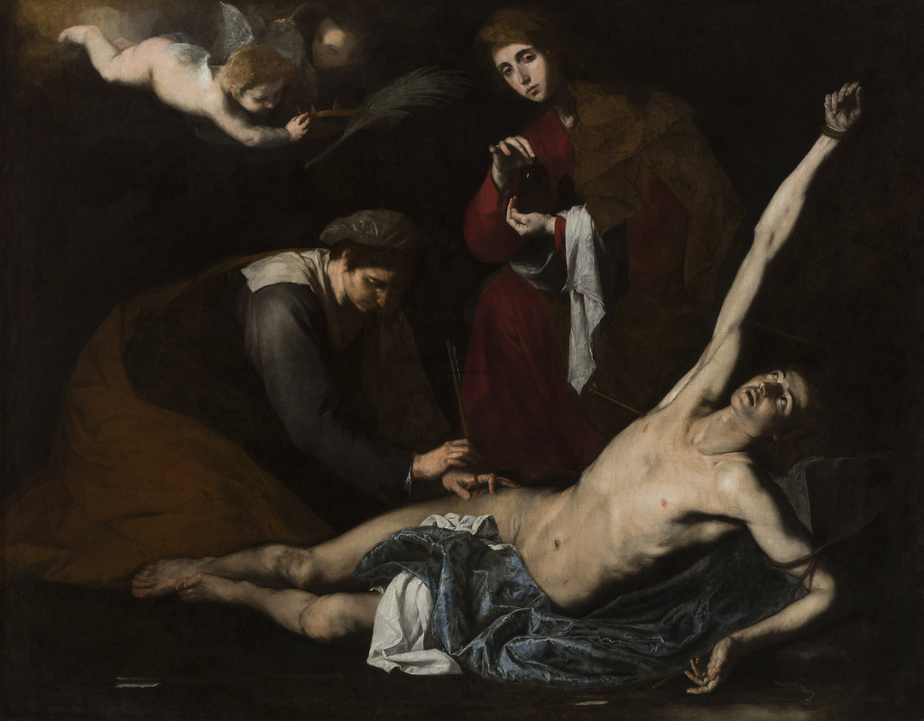 Ribera   st sebastian tended by the holy women
