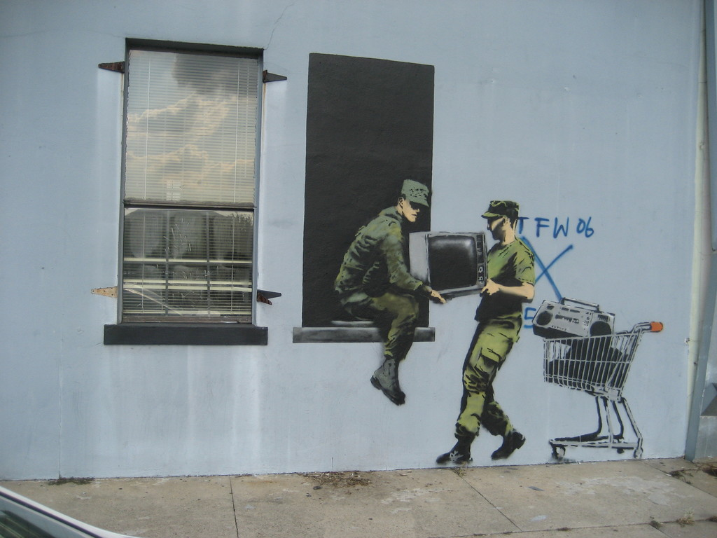 Banksy looters new orleans