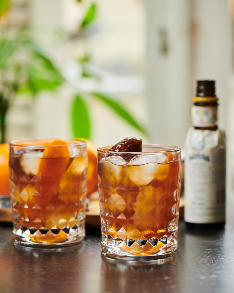 Medjool date old fashioned  by russell norman