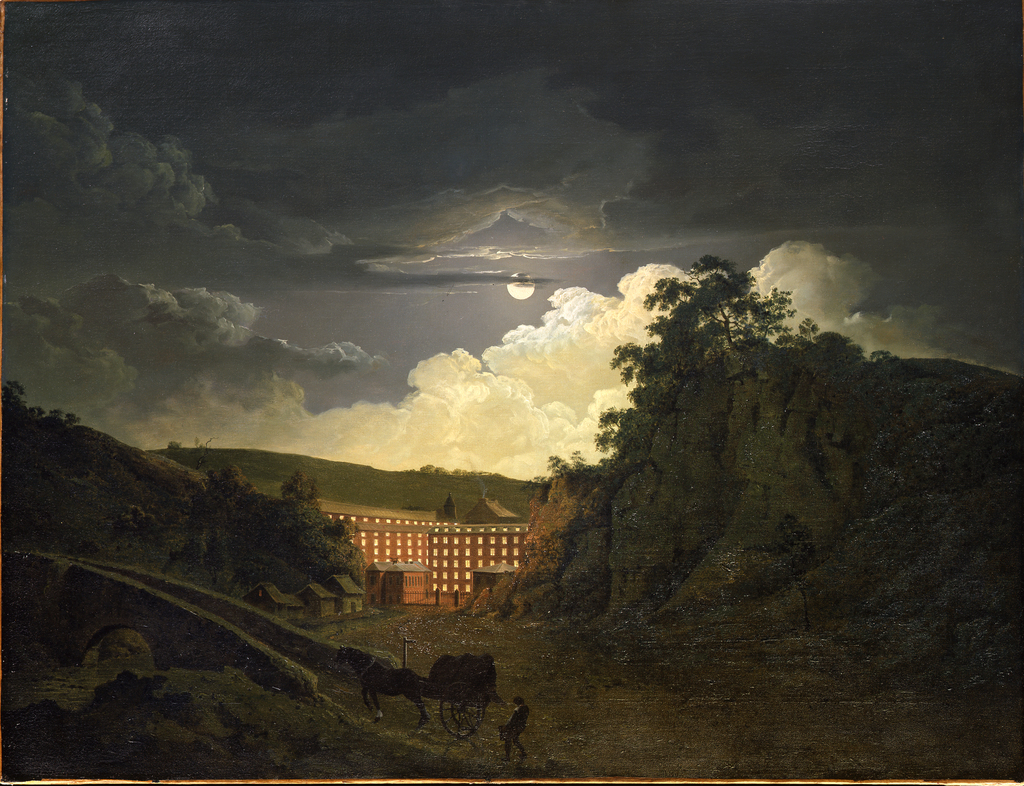 6. joseph wright of derby  arkwright%e2%80%99s cotton mills by night  painted 1780s