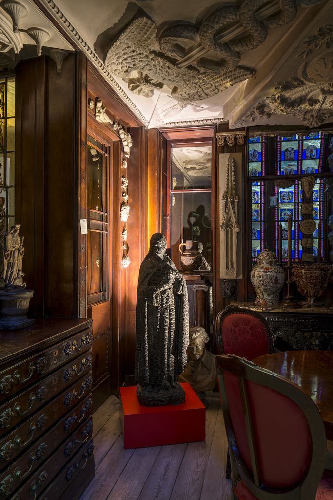 Burnt madonna  1985. artists  collection. installation view in the monk s parlour  photo by gareth gardner