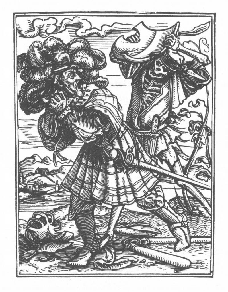 Holbein danse macabre 32