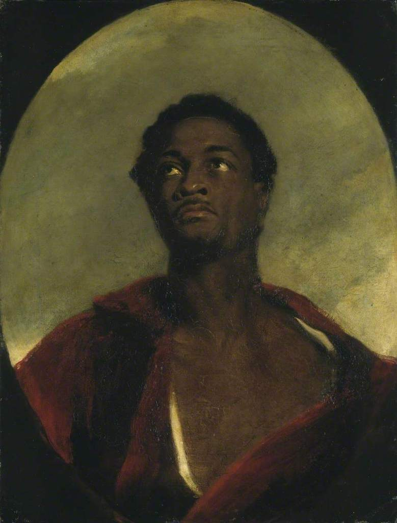 John simpson %281782 1847%29   head of a man %28 ira frederick aldridge%29   n00382   national gallery