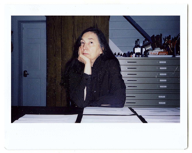 Jenny holzer photographed by hugo huerta marin for portrait of an artist %28published by prestel on 7 sept%29