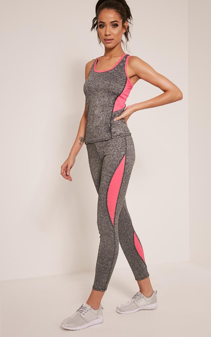 Jennie Pink Panel Detail Gym Leggings