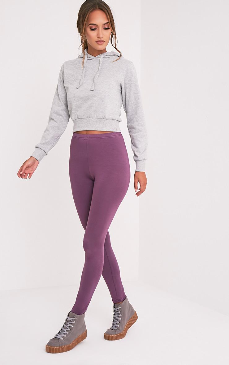 Basic Aubergine Jersey Leggings