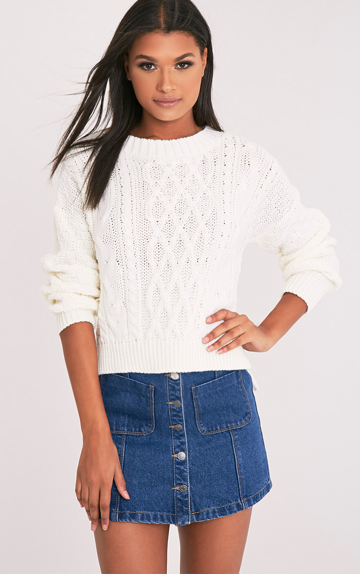 Chyanne Cream Cable Knit Jumper