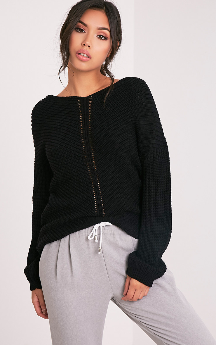 Hollilia Black V Hem Jumper
