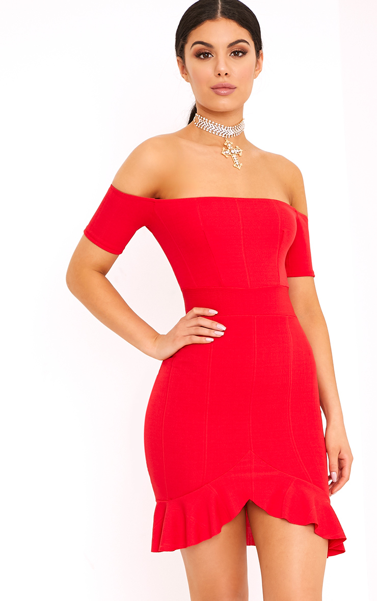 Bardot Dresses Off The Shoulder Dress