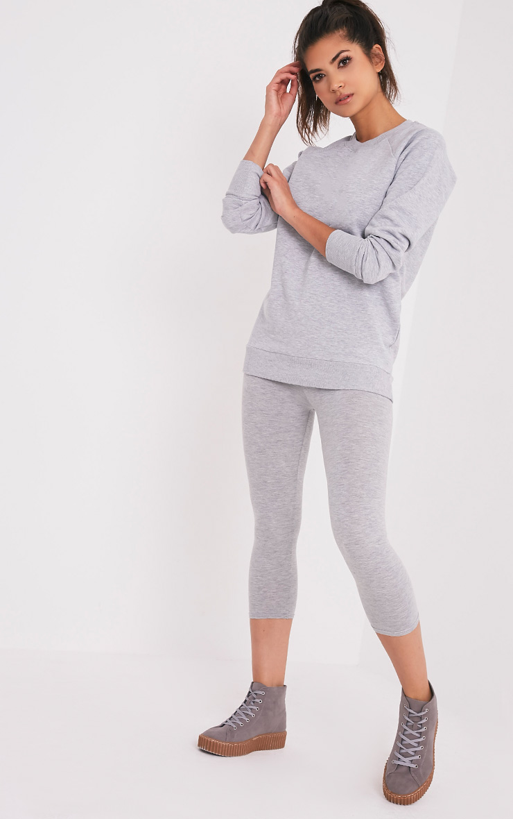 Lucina Light Grey Crew Neck Longsleeve Sweatshirt