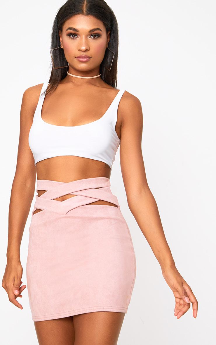 Can speak Pink mini skirt