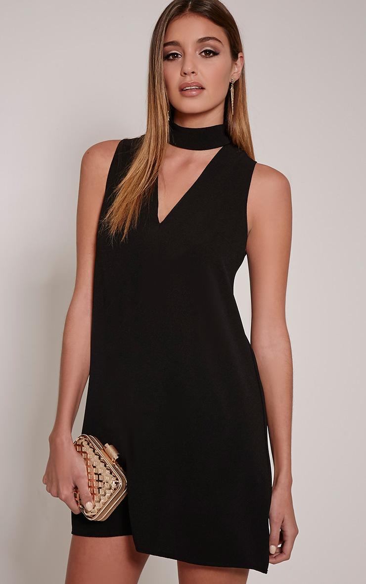 Cinder Black Choker Detail Loose Fit Dress
