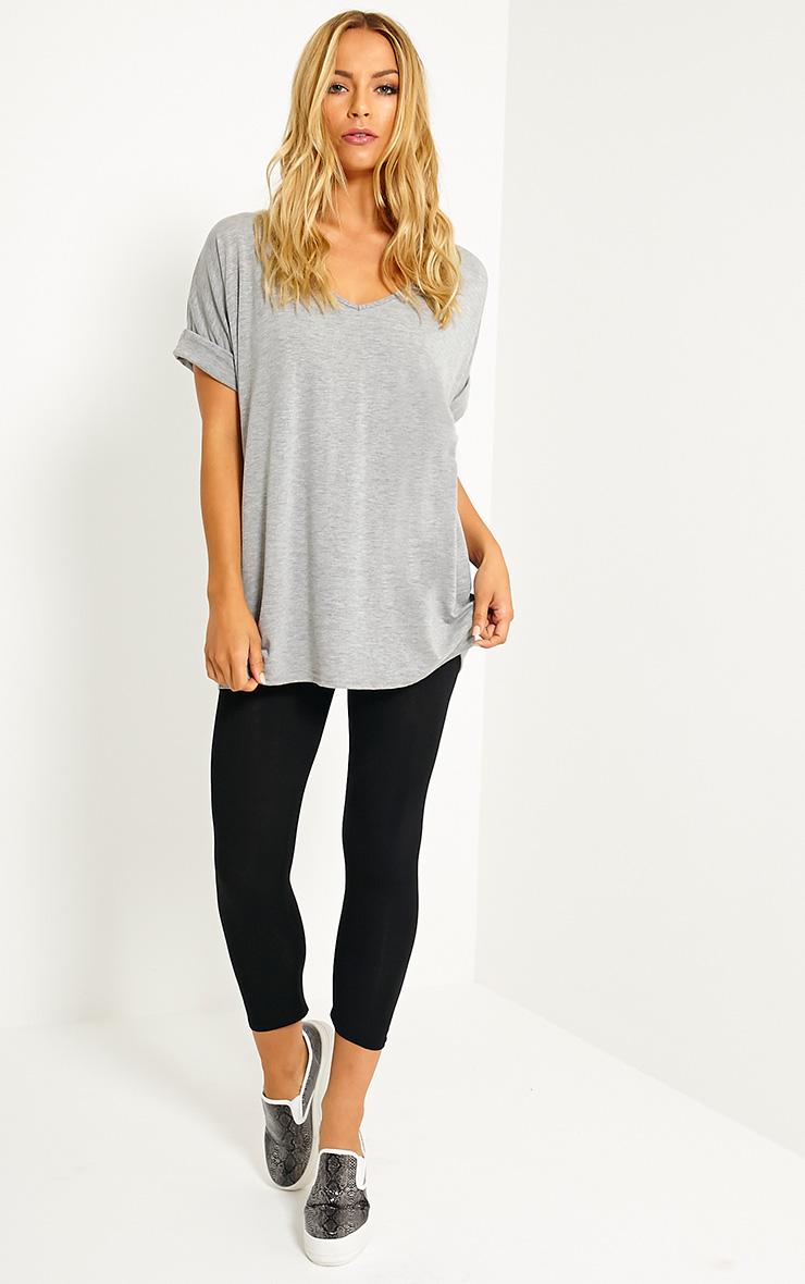 Basic Black Cropped Jersey Leggings