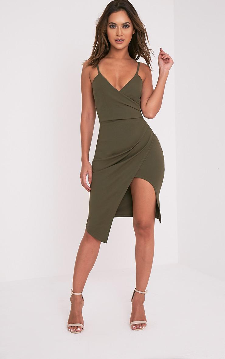 Green formal fishtail dress
