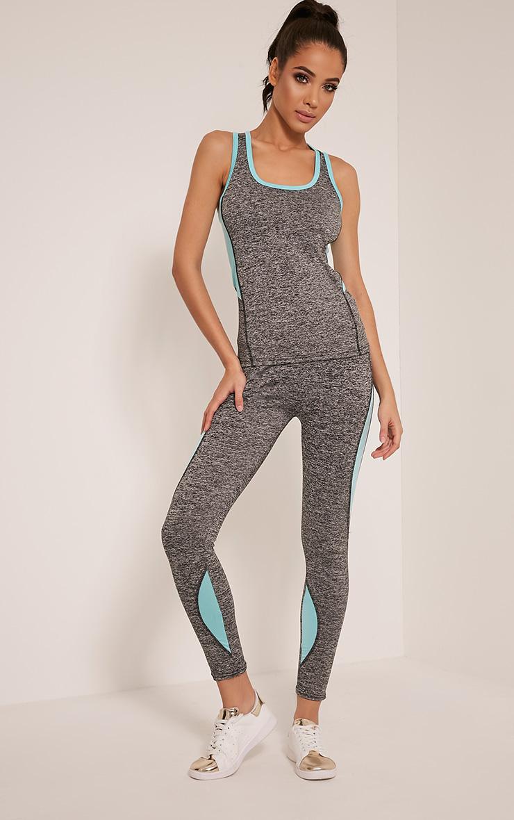 Jennie Blue Panel Detail Gym Leggings