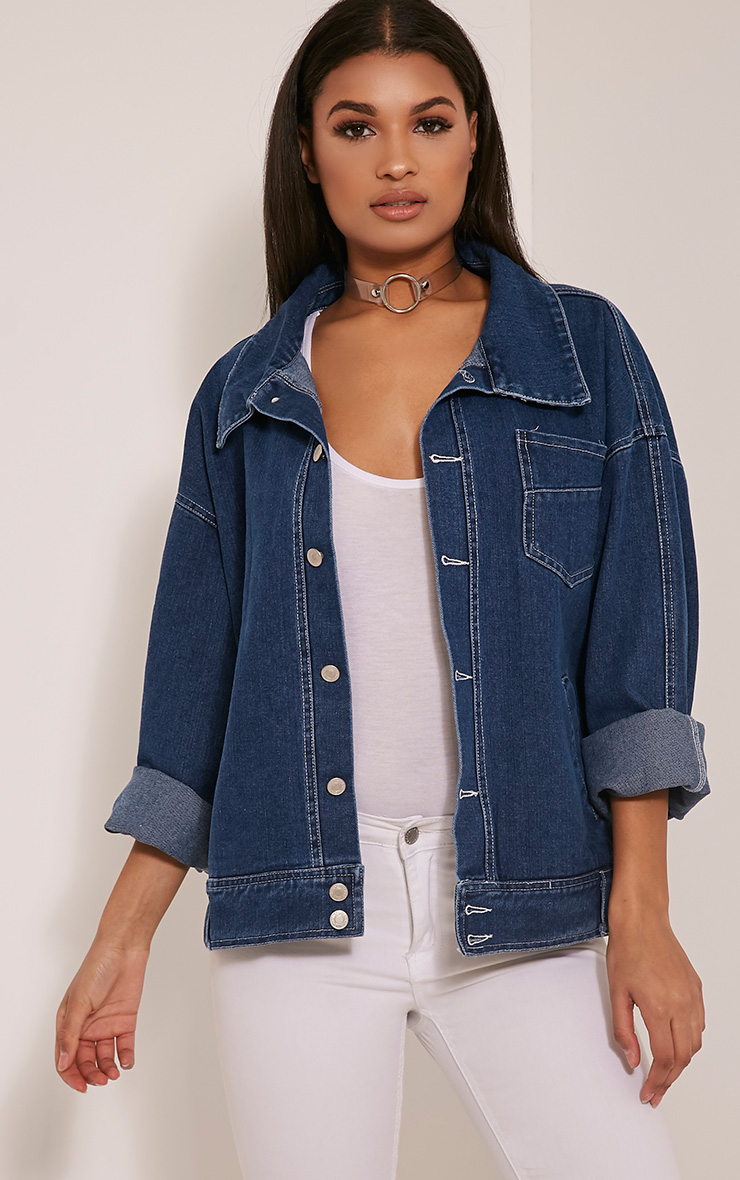 Josana Mid Wash Boyfriend Denim Jacket