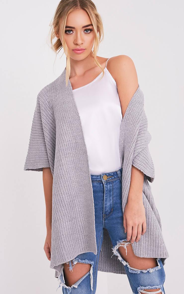 Lexie Grey Poncho Cardigan
