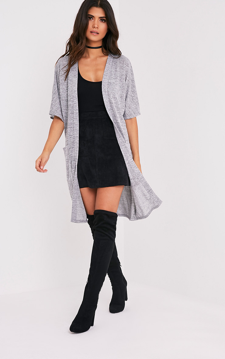Elinore Grey Midi Pocket Cardigan