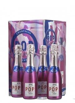 Pommery Coffret 4 mini Pink POP Non millésimé  Etui