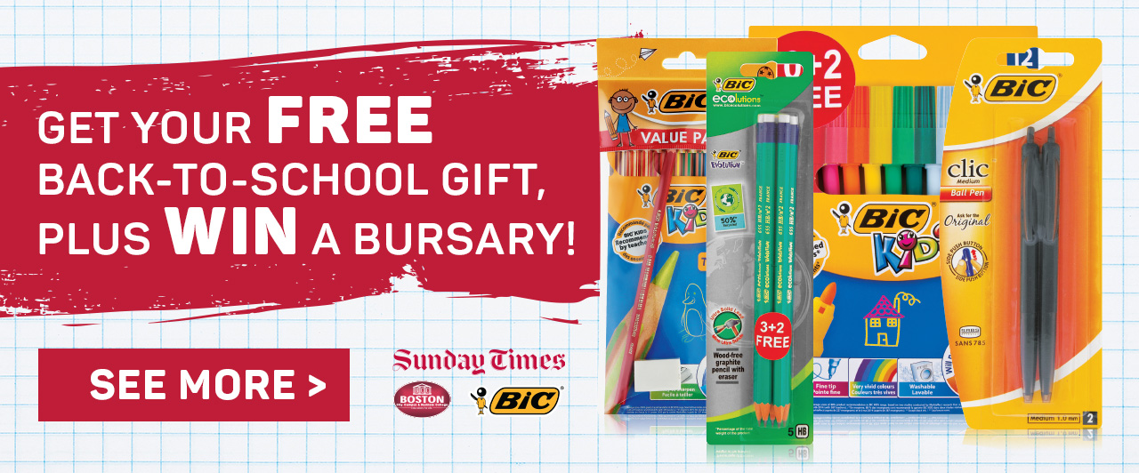 Get your back-to-school gift plus win a bursary! See more