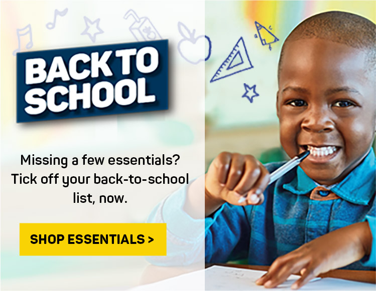 Back to School. Missing a few essentials? Tick off your back-to-school list, now. Shop essentials