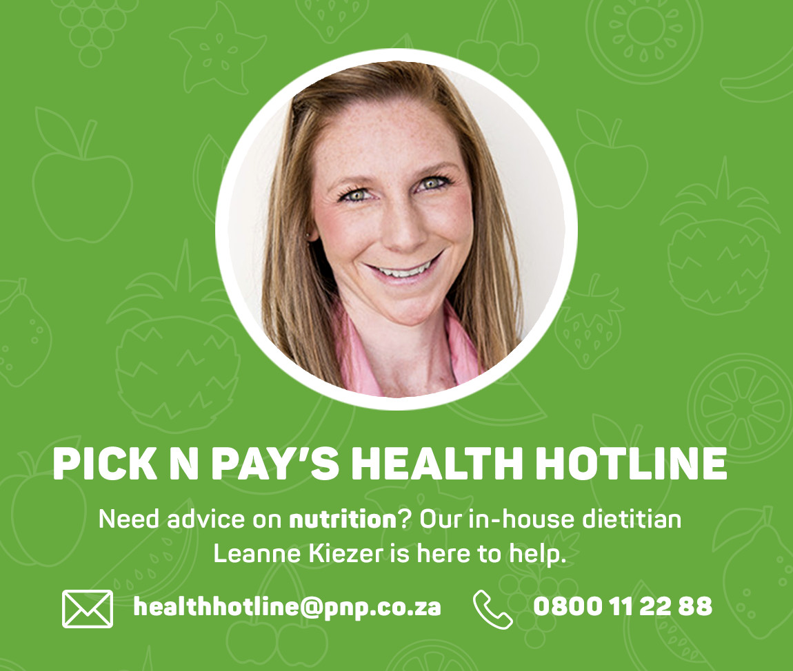 Pick n Pay's Health Hotline. 0800 11 22 88