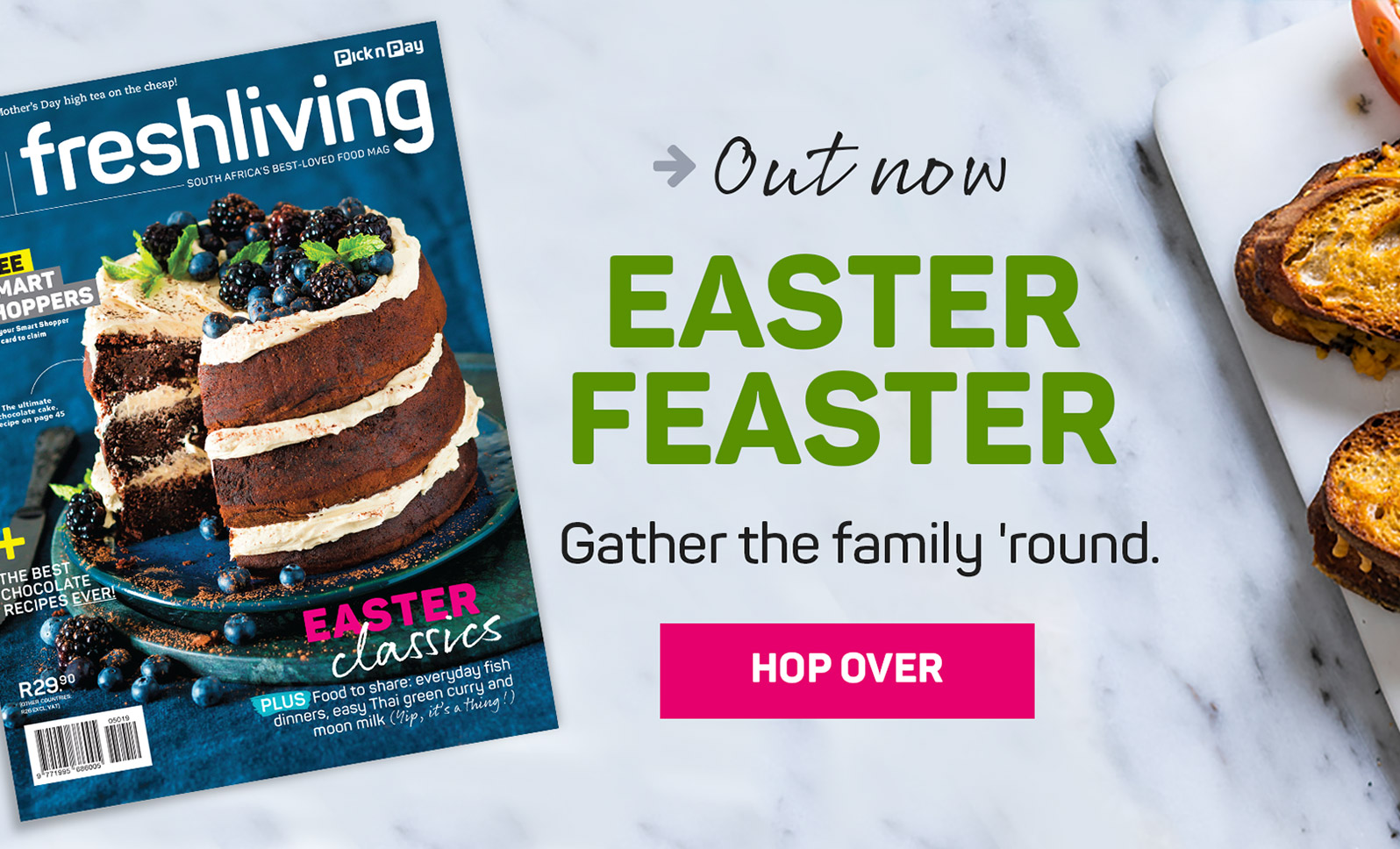 Out now. EASTER FEASTER. Gather the family 'round. Hop over