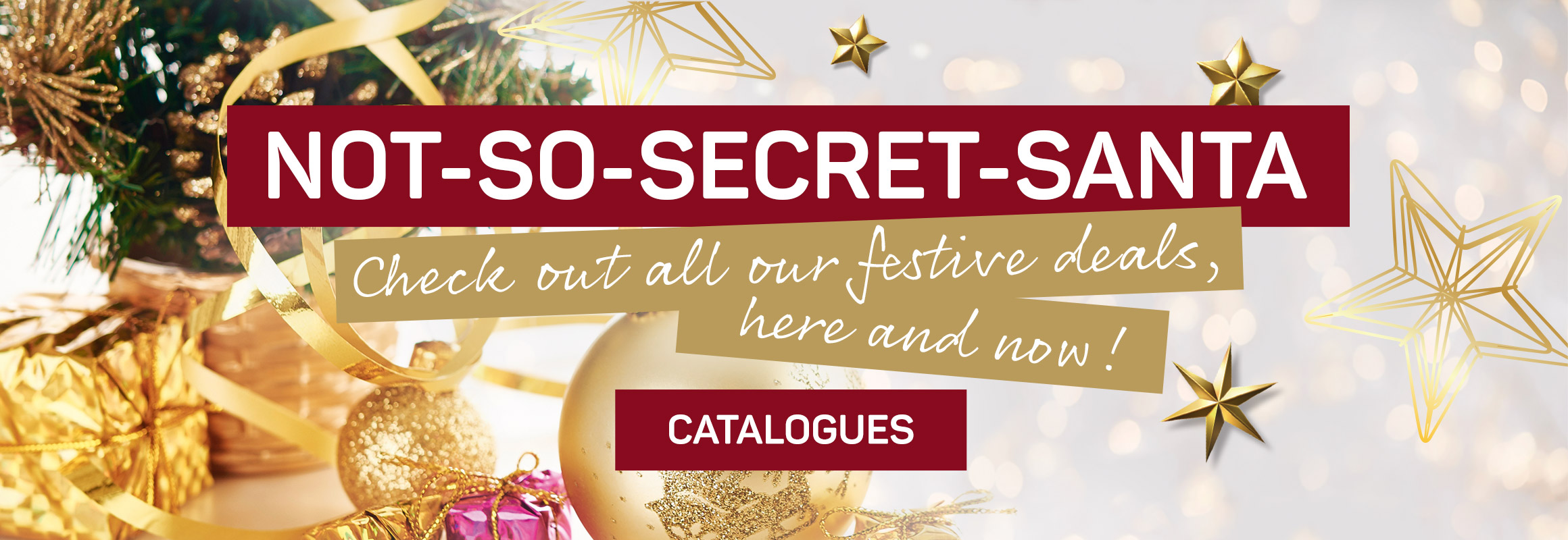 Not-so-secret-santa. Check out all our festive deals here and now