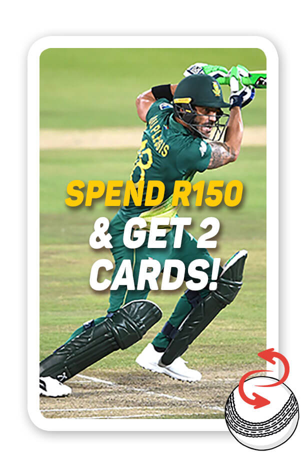 Spend R150 and get 2 cards