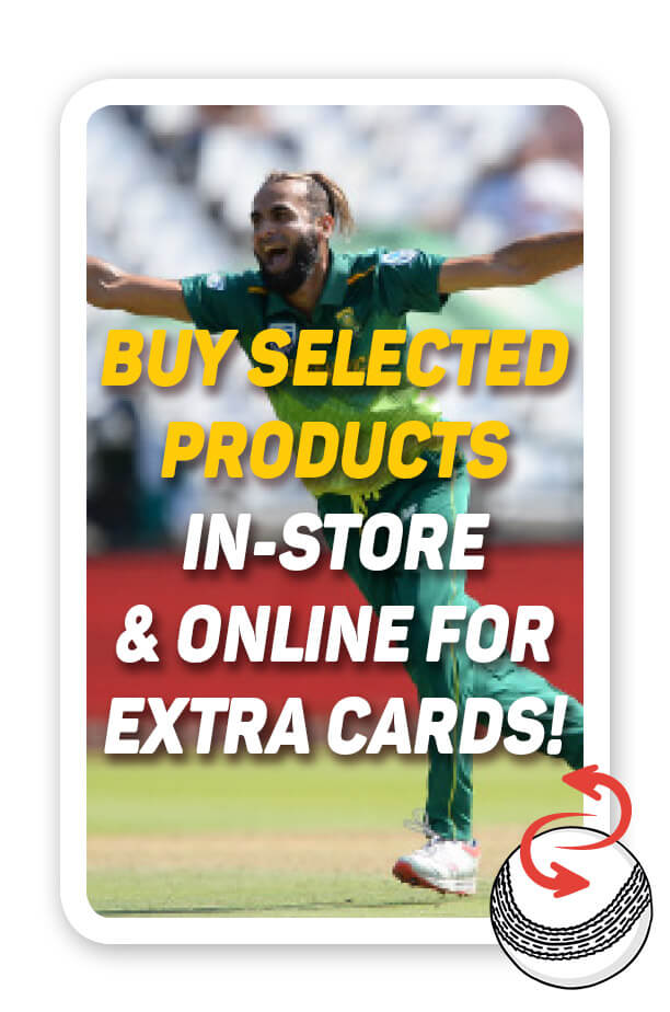 Buy selected products in store & online for extra cards