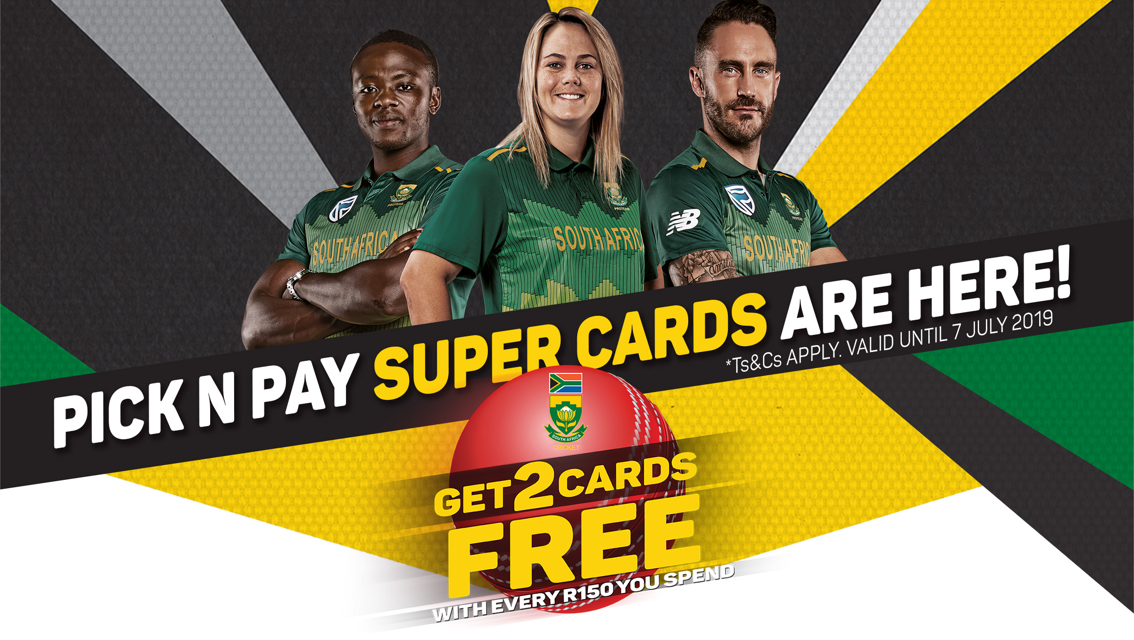 Pick n Pay Super Cards are here! Get 2 cards free with evrey R150 you spend