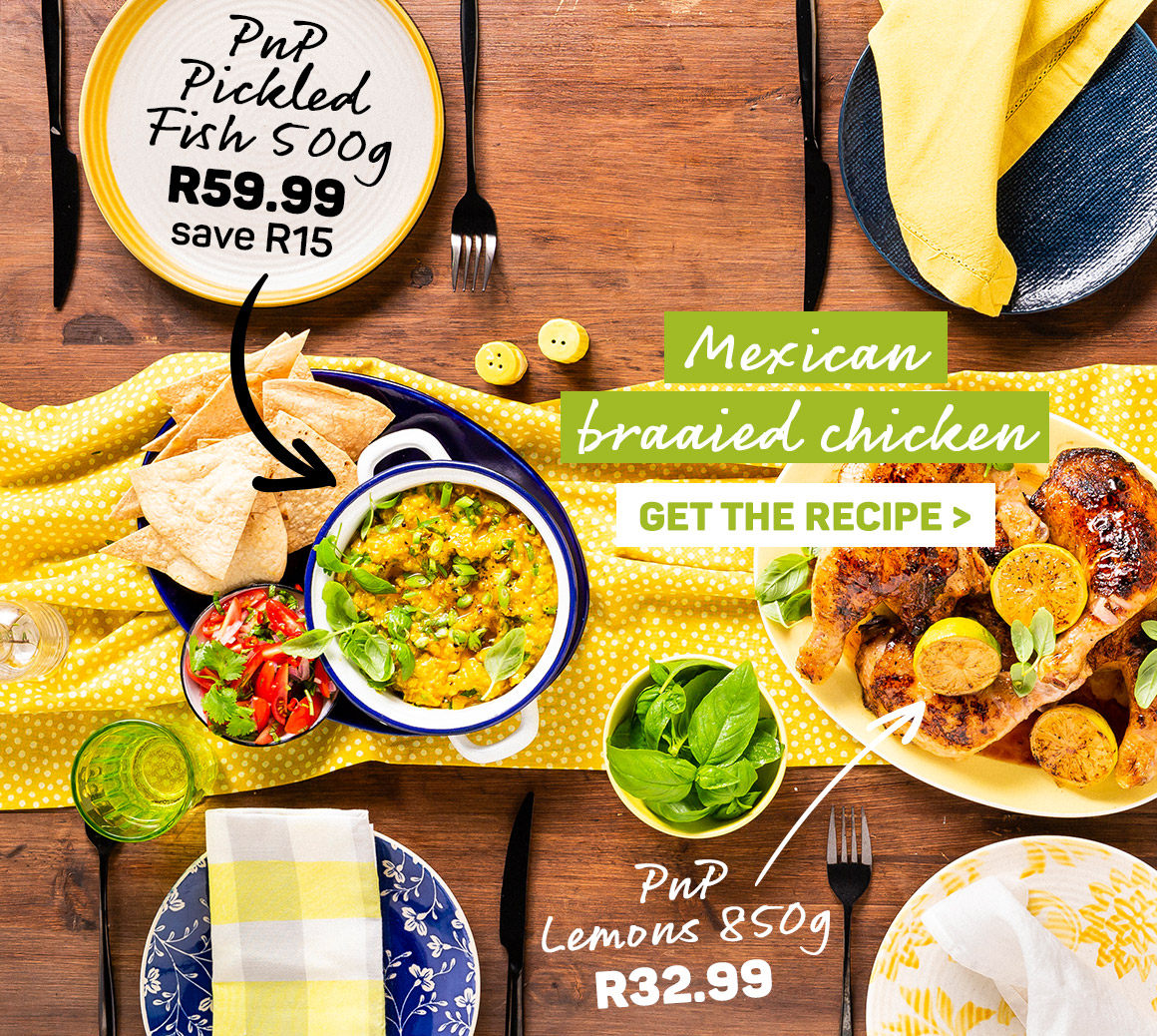 Get the Mexican braaied chicken recipe.