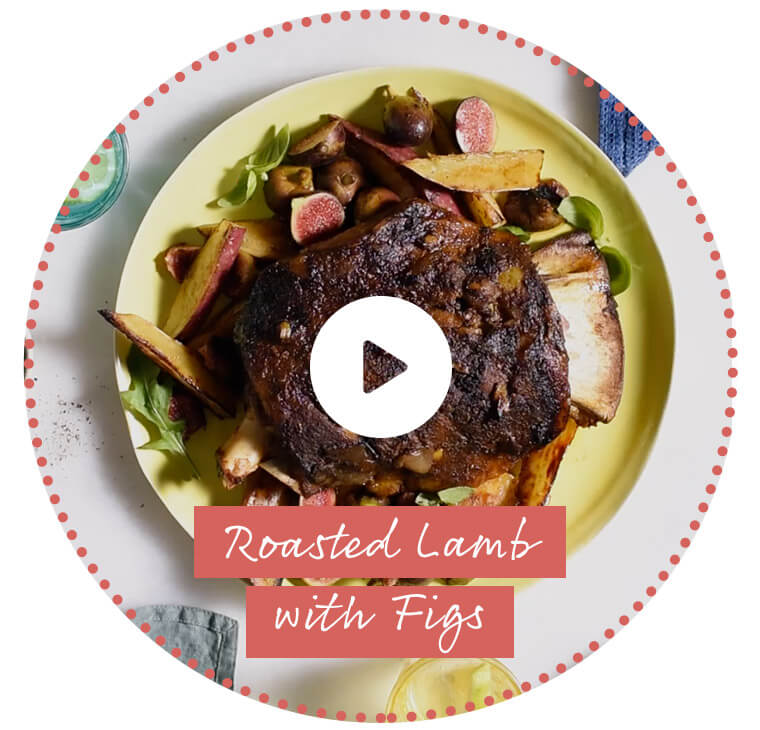 Roasted Lamb with Figs
