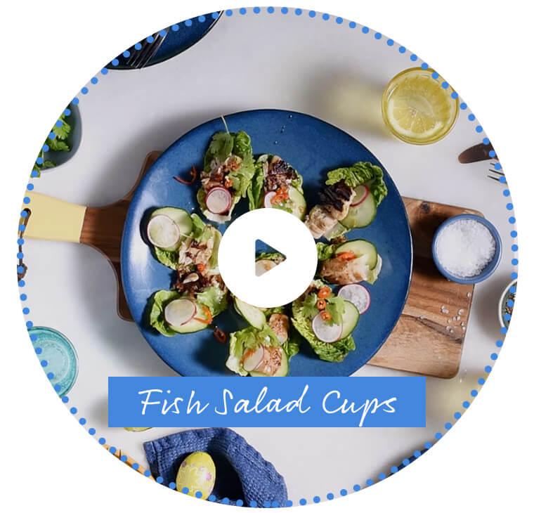 Fish Salad Cups
