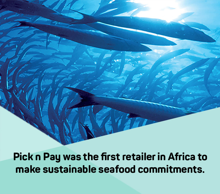 Pick n Pay was the first retailer in Africa to make sustainable seafood commitments.