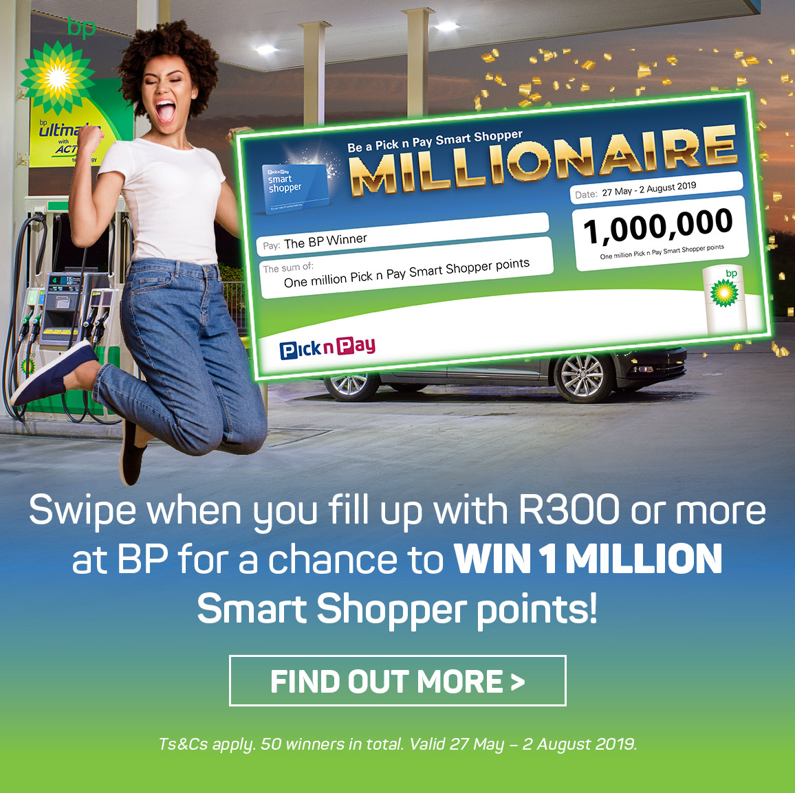 Stand to win 1 Million Smart Shopper Points