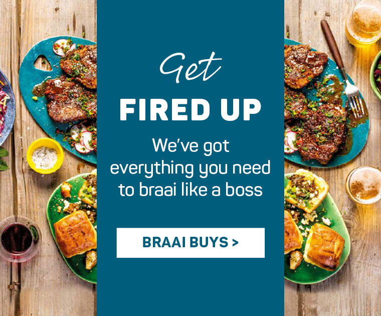 Get fired up. We've got everything you need to braai like a boss. Braai buys