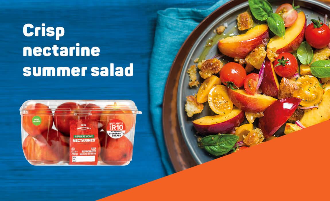 Crisp nectarine summer salad