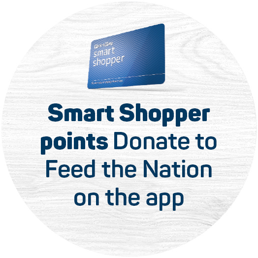 Smart Shopper Points. Donate to FoodForward SA on the app