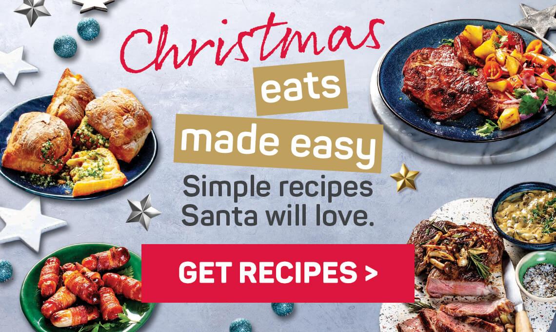 Christmas eats made wasy. Simple recipes Santa will love. Get recipes