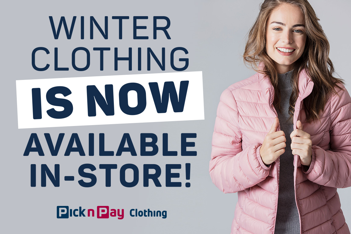 Winter clothing is now available in-store