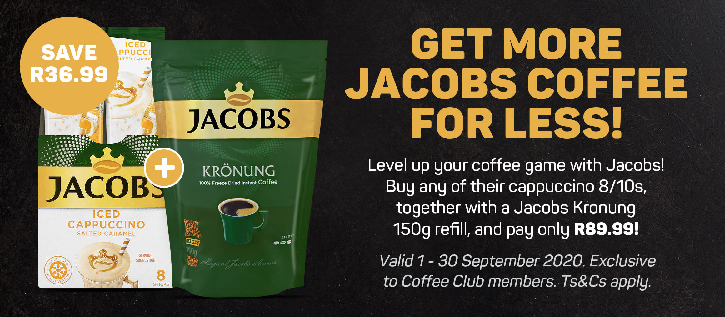 Get more Jacobs coffee for less!