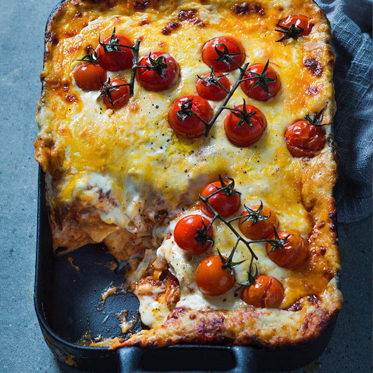 Slow-cooked lasagne
