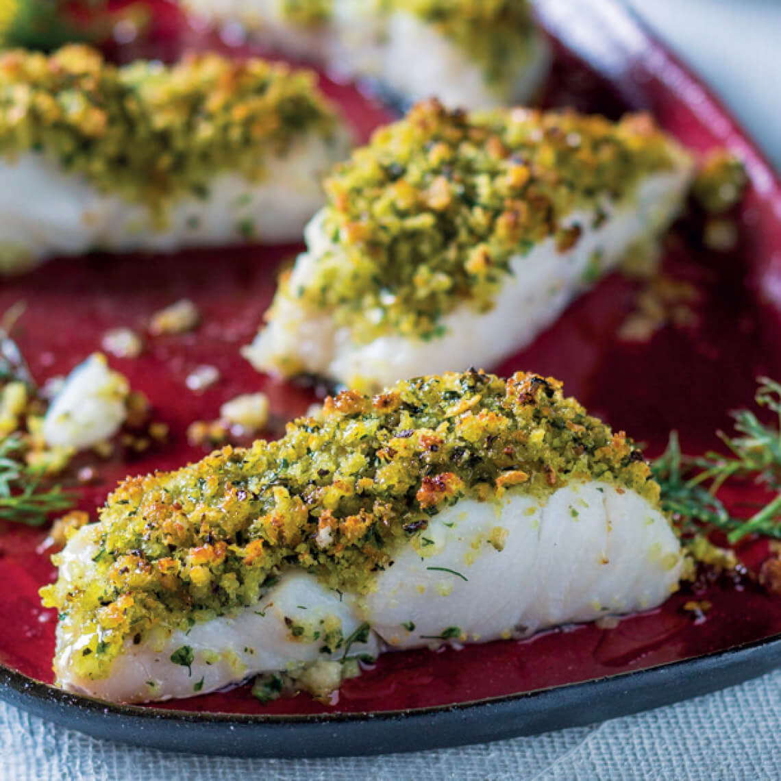 Herb-crumbed Hake Fillets