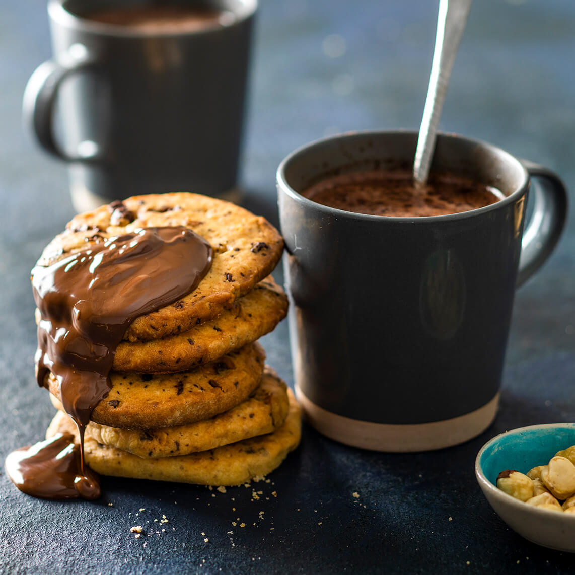 Chocolate and hazelnut biscuits