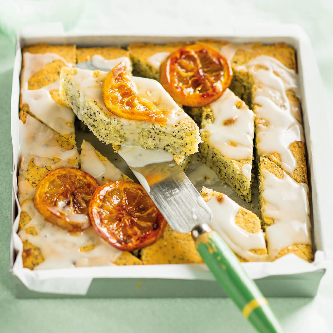 Lemon and lime poppy seed slices