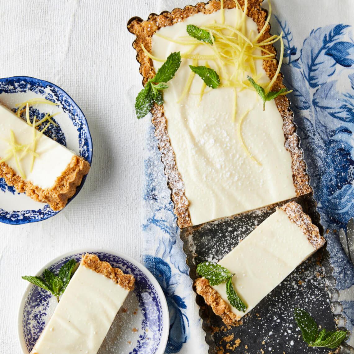 Lemony fridge cheesecake slices