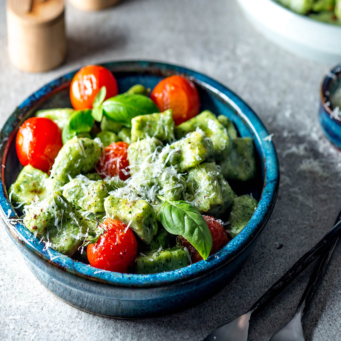 Spinach and parmesan gnocchi
